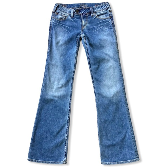 SILVER JEANS | Tina Low Rise Distressed Tall 28x33